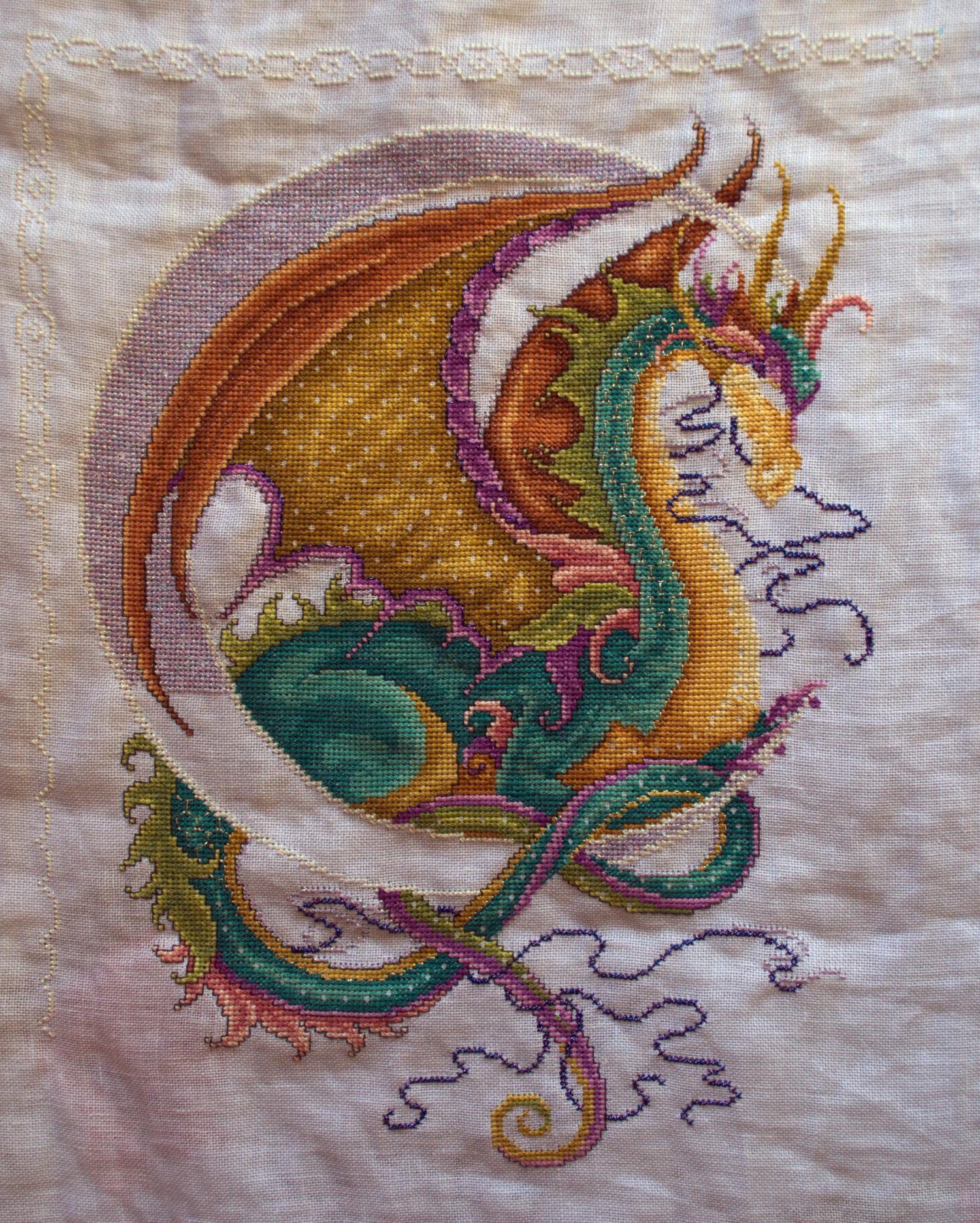 Как вышить дракона крестиком: обзор авторских схем: публикации 43