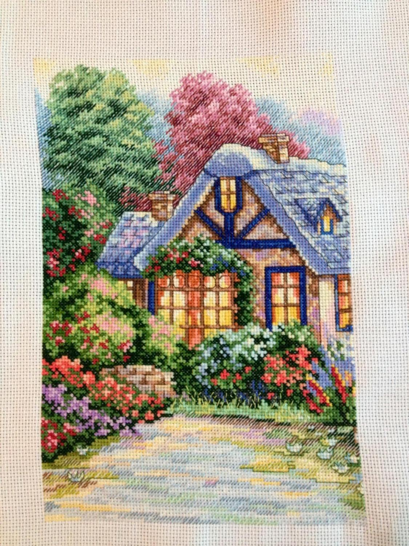 Вышивка милый дом схема