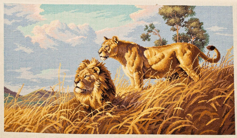 Вышивка крестом львов схемы 51