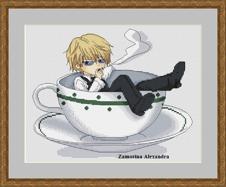 Вышивка аниме схемы бесплатно