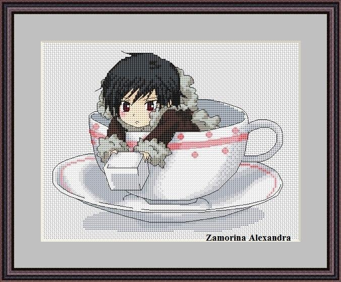 Вышивка крестом аниме схемы бесплатно