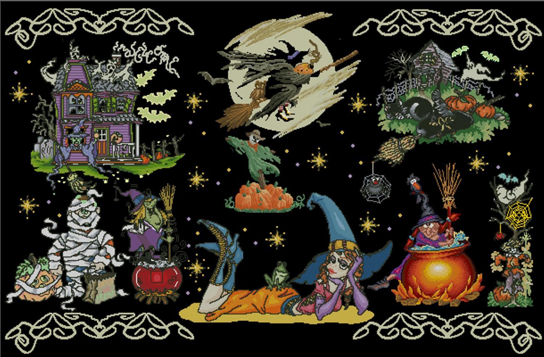 Halloween Tree Cross Stitch Pattern 92