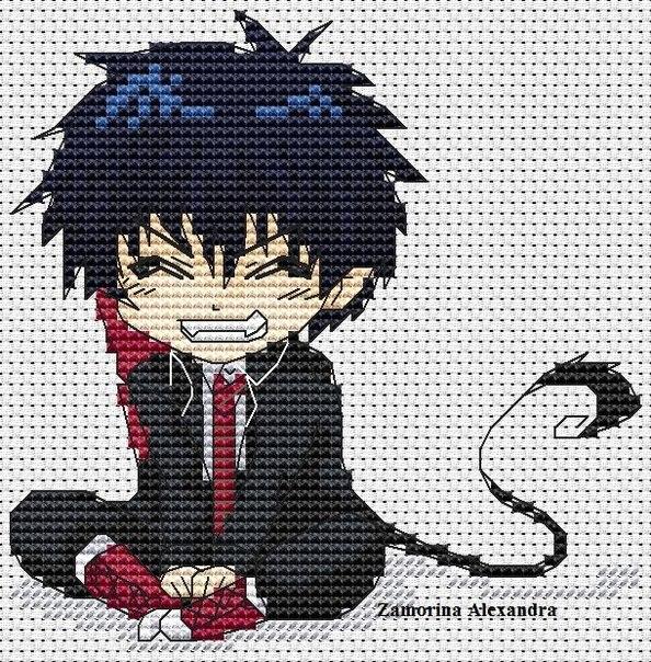 Вышивка крестиком картинки из аниме