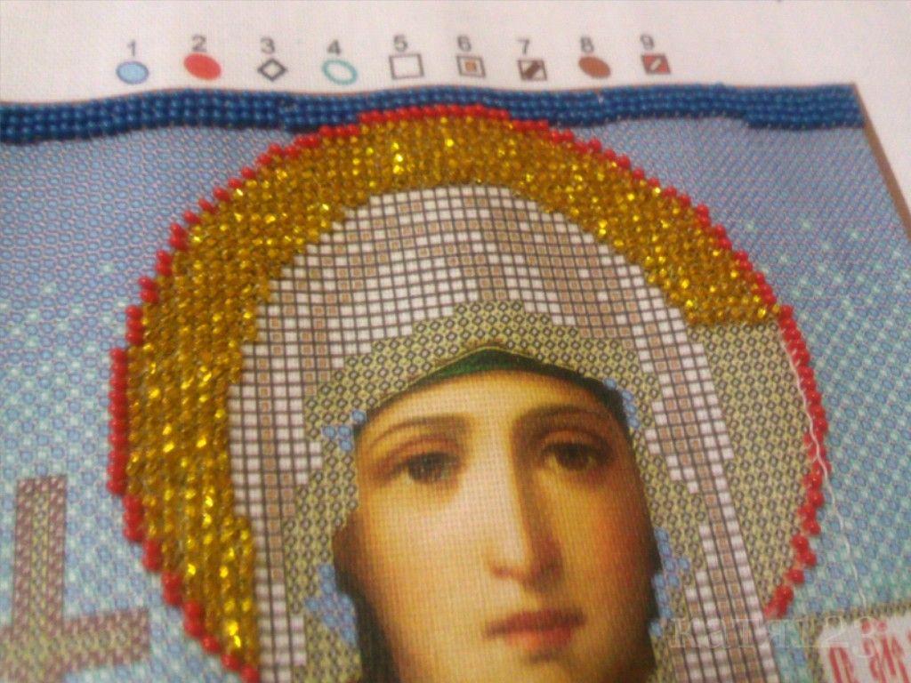 Как вышивать нимб у икон бисером