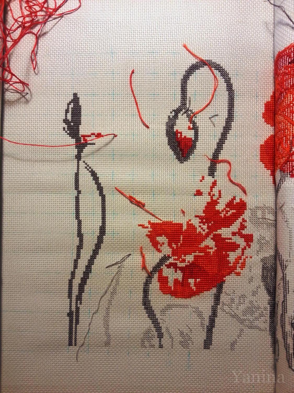 Вышивка алые маки фирмы риолис 47