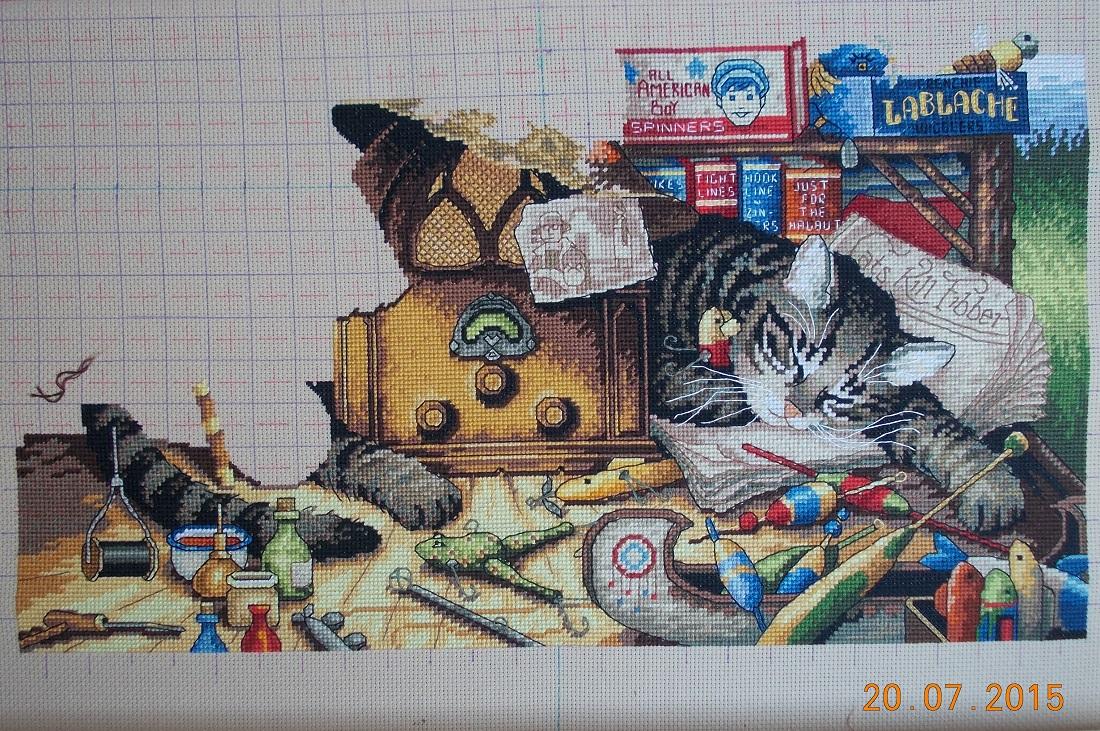Вышивка крестиком кот макс 14