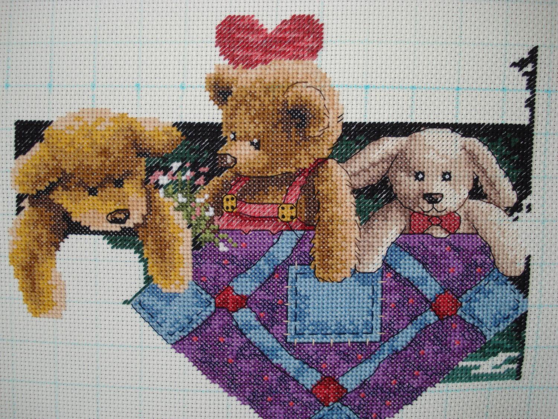 13684 animal shelf схема вышивки 55