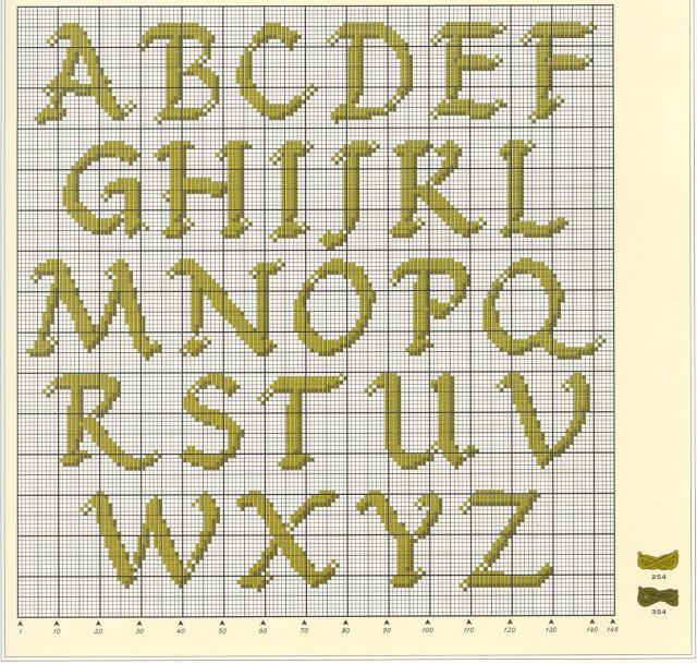 Английские буквы вышивка крестом схема