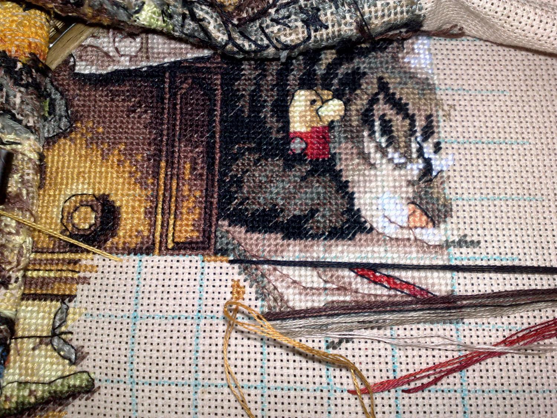 кот макс рыболов вышивка