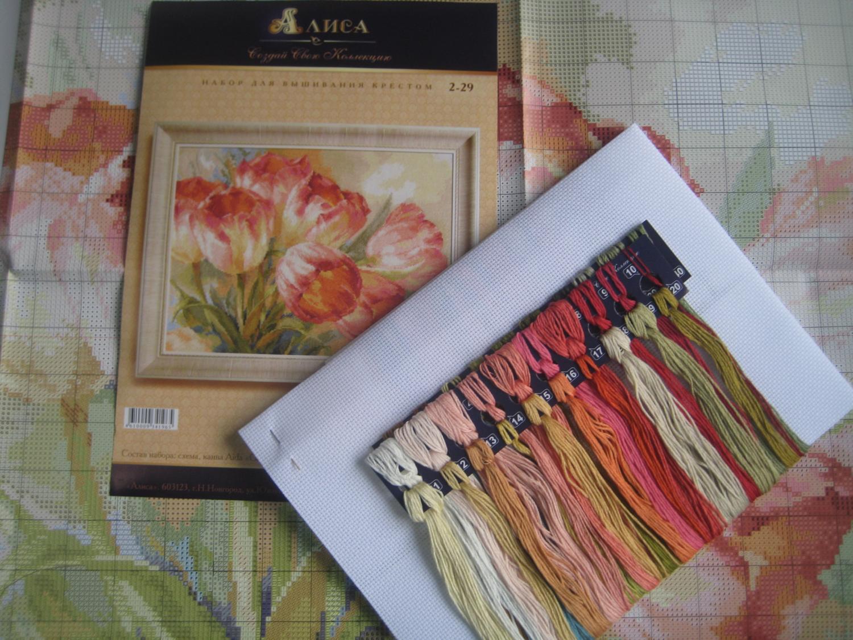 Наборы вышивки тюльпаны
