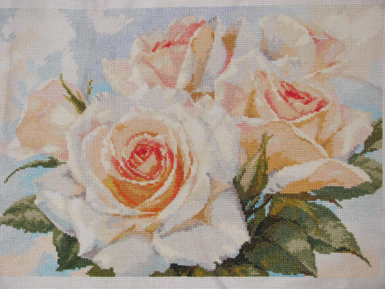 Схема вышивки алиса белые розы 20