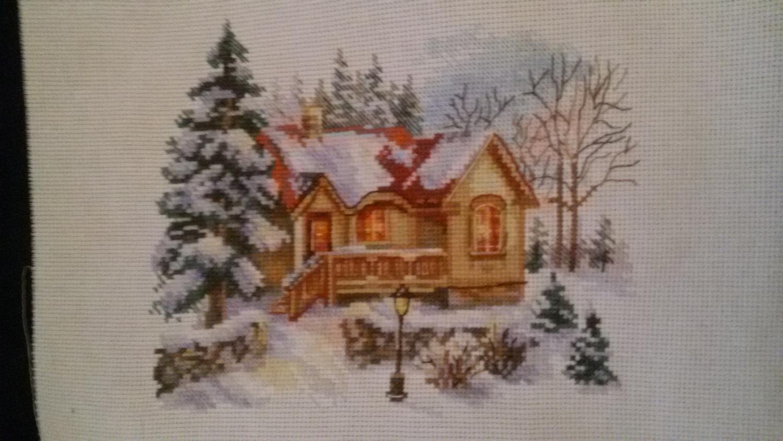 Алиса февральский домик вышивка схема