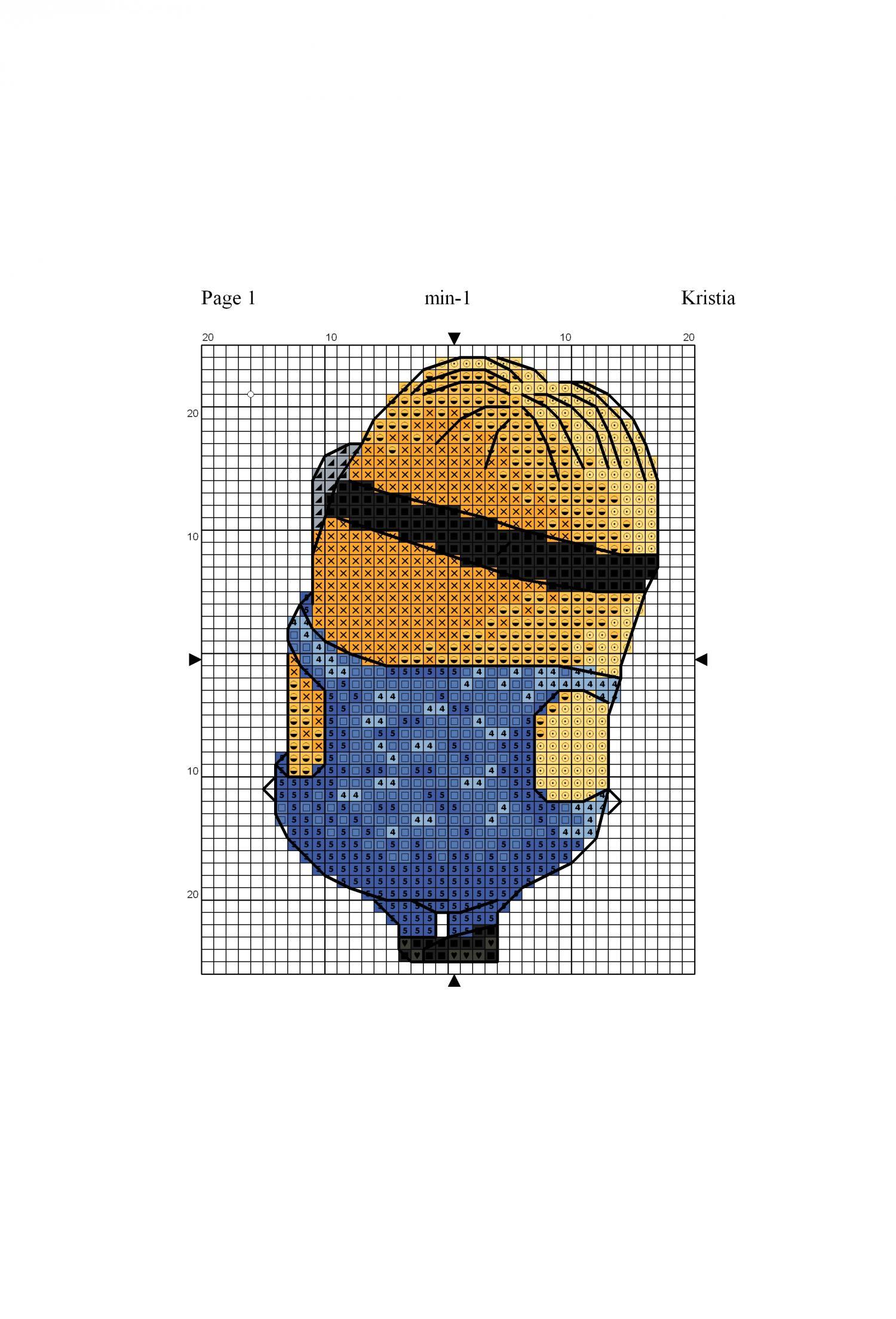 Миньоны - 12 схем для вышивки крестом вышивка крестом 33