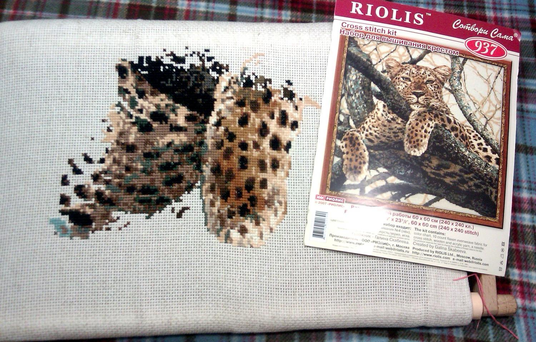 Набор для вышивки леопард риолис