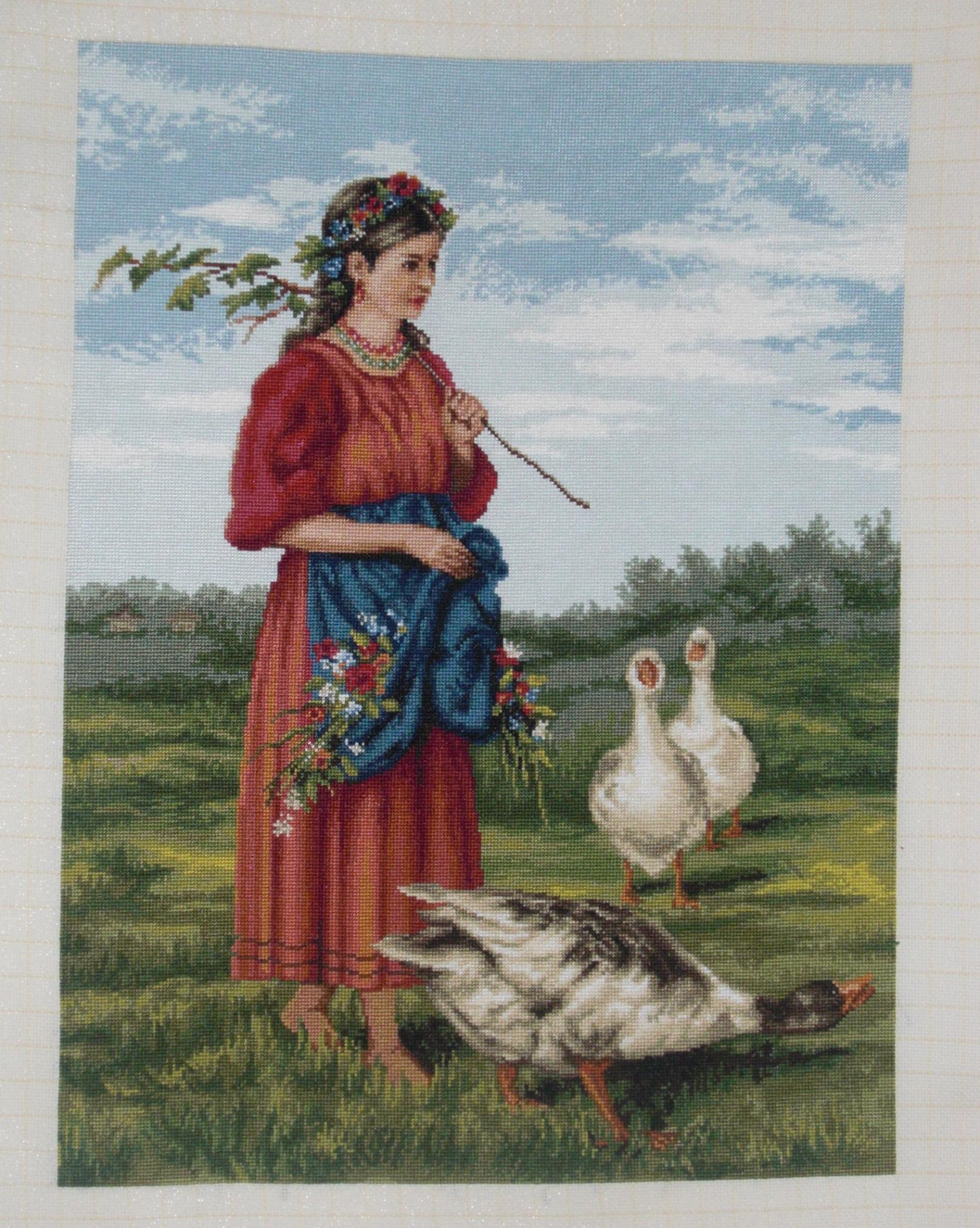 Картины художников в вышивках крестом