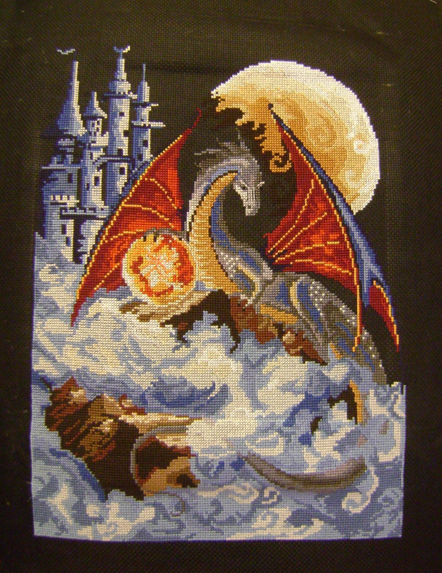Как вышить дракона крестиком: обзор авторских схем: публикации