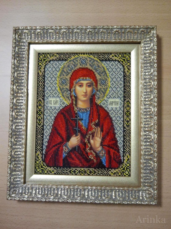 Вышивка бисером икона марина фото