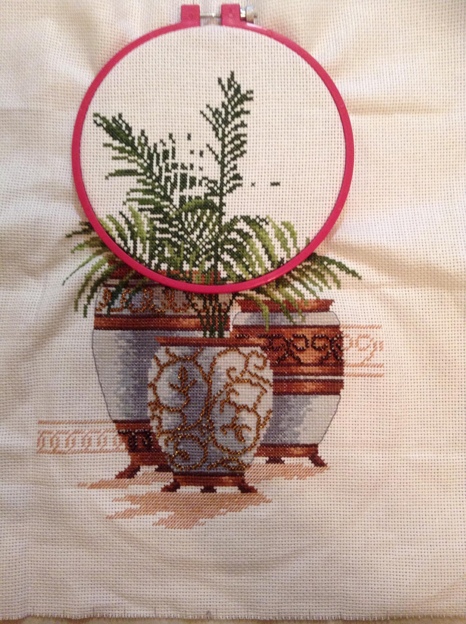парижанка вышивка крестом схема овен