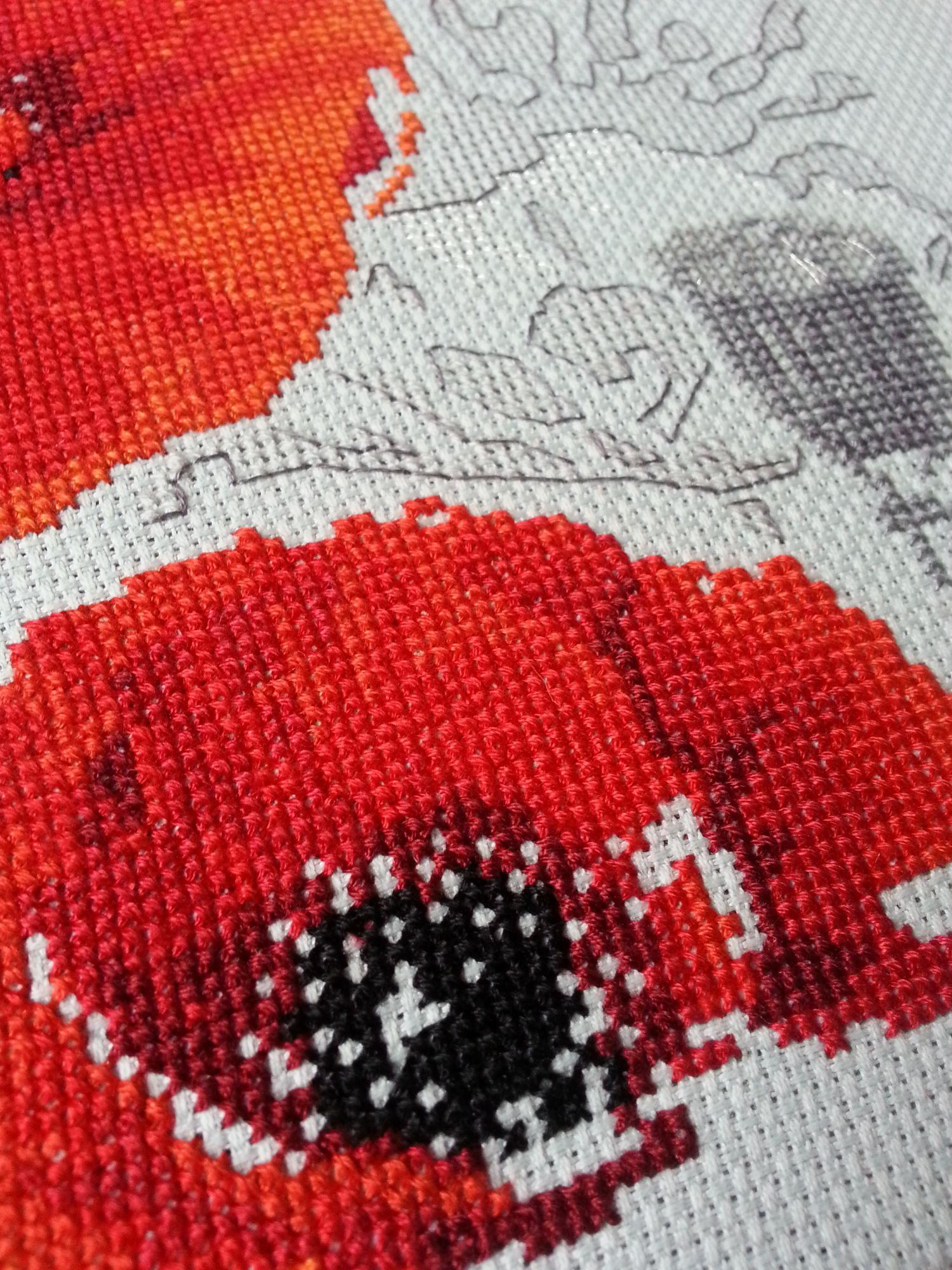 Вышивка риолис маки фото