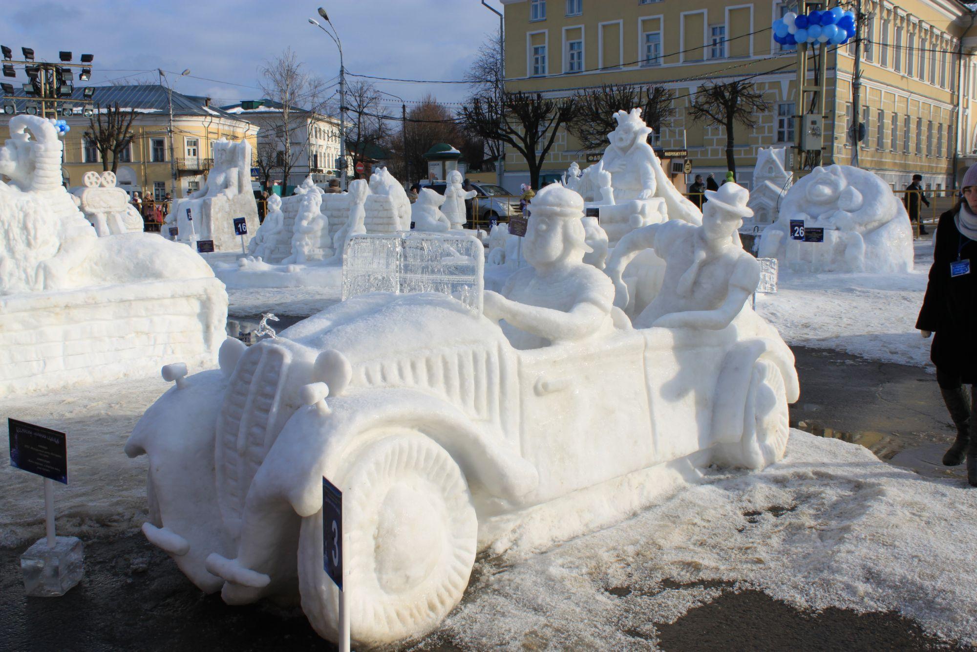 Горки фигуры из снега своими руками