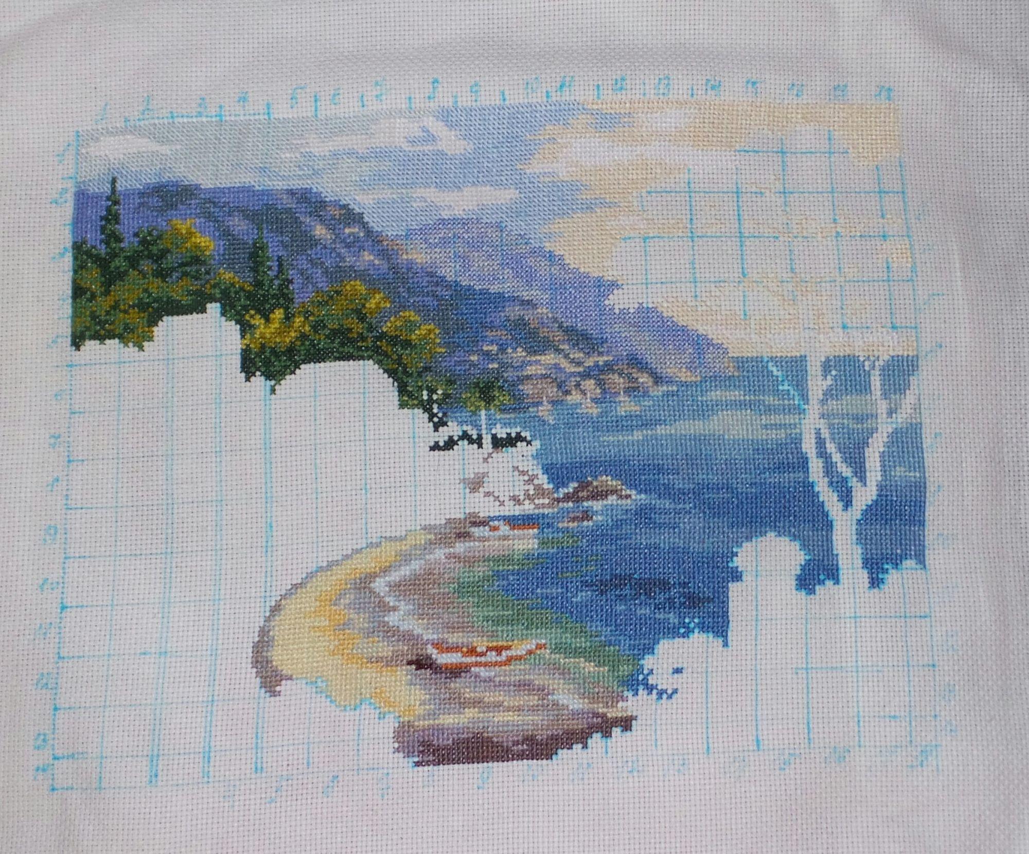 Вышивка южный берег фото
