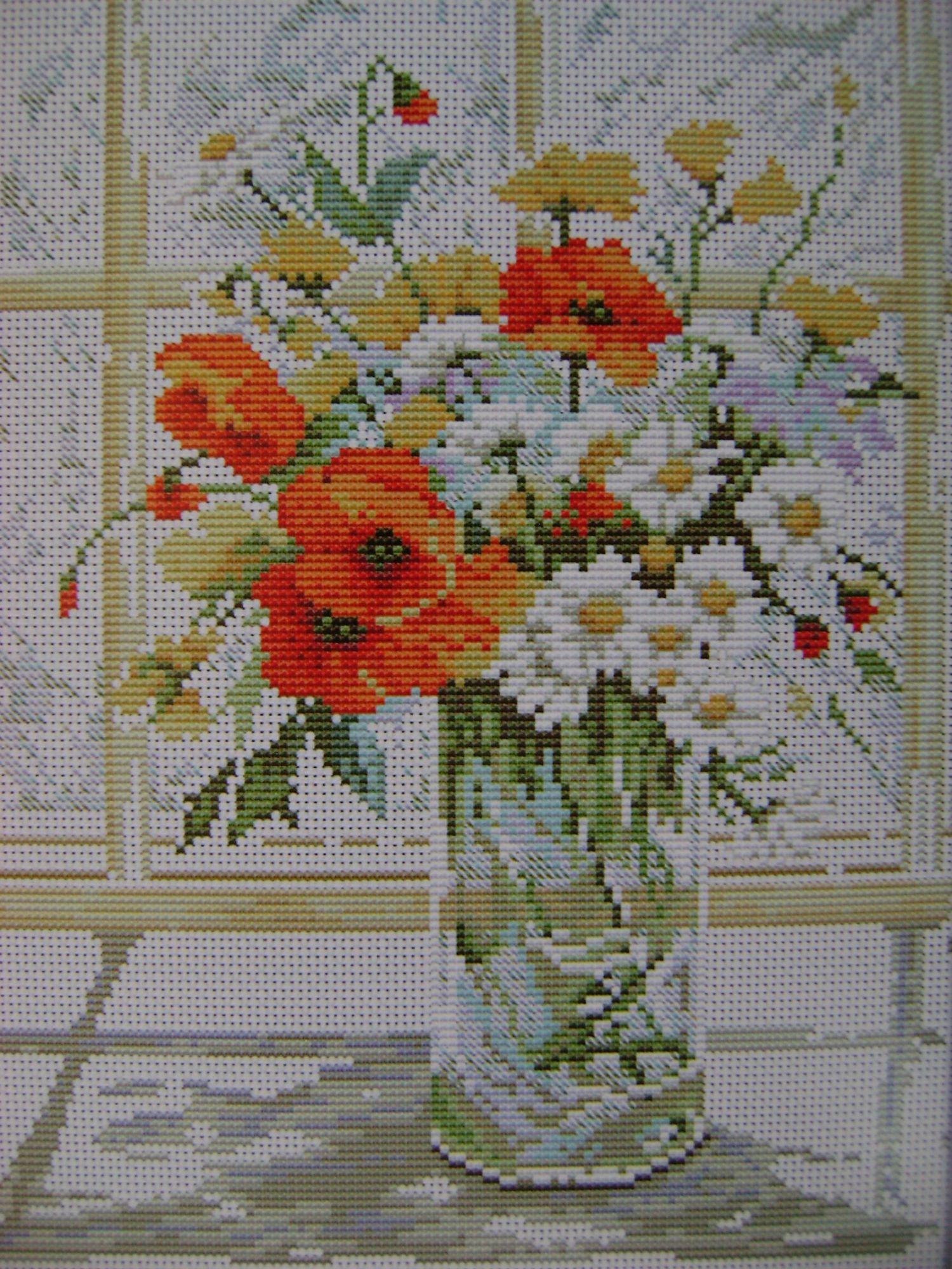 Наборы вышивки крестом цветы и цветочные композиции