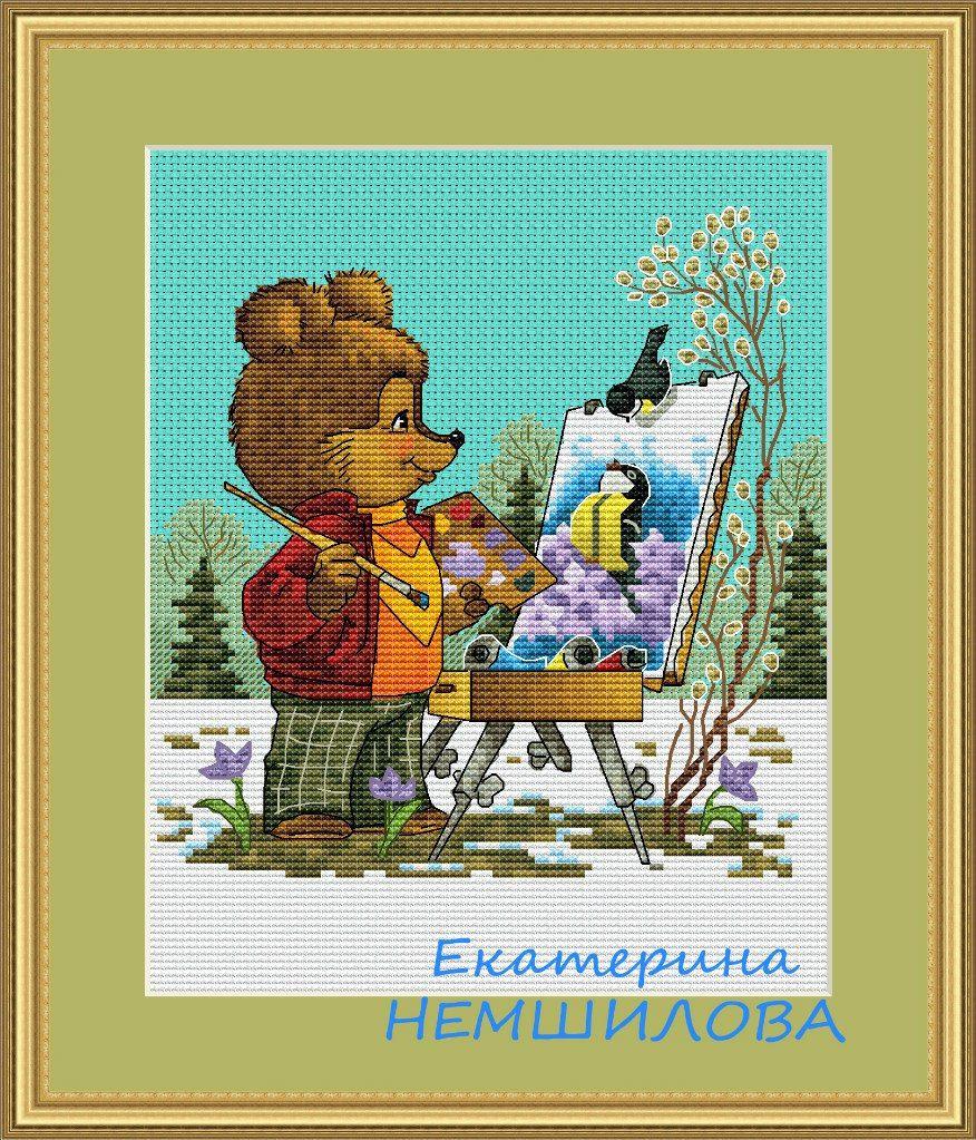 Картинки про, схемы вышивок по открыткам зарубина