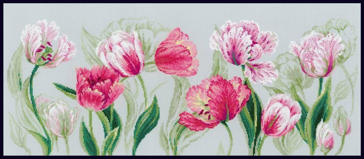 Вышивка тюльпан от риолис 292