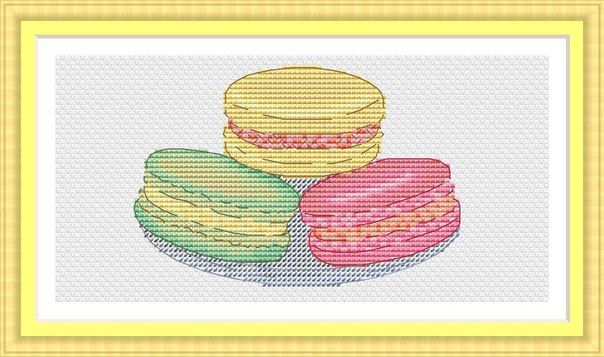 Схемы вышивки макарун