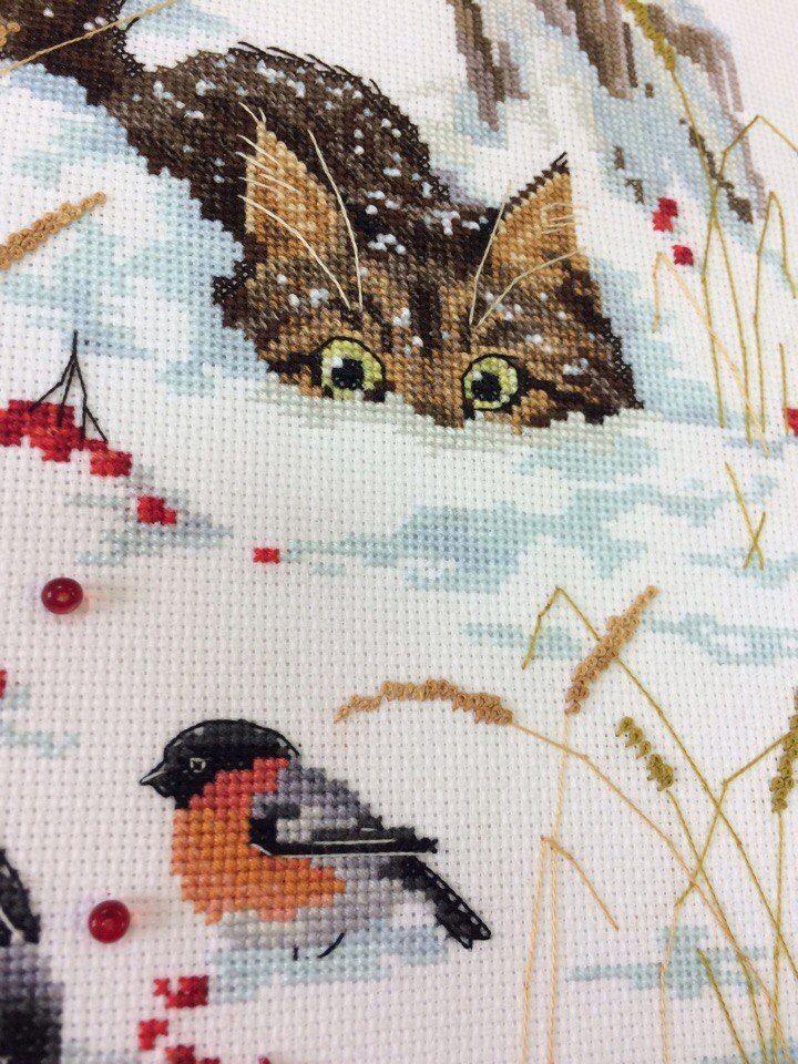 Схема вышивки крестом похождения кота василия