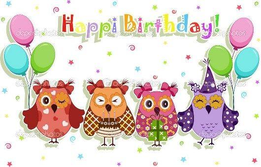 Поздравление от совы с днем рождения
