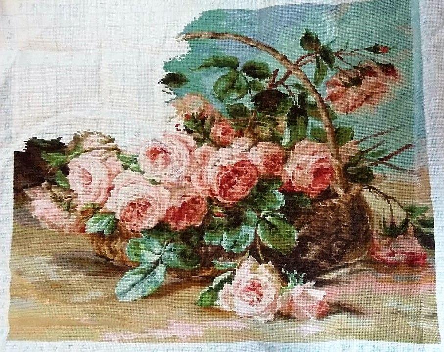 Набор для вышивки крестом luca-s b547 корзина с розами