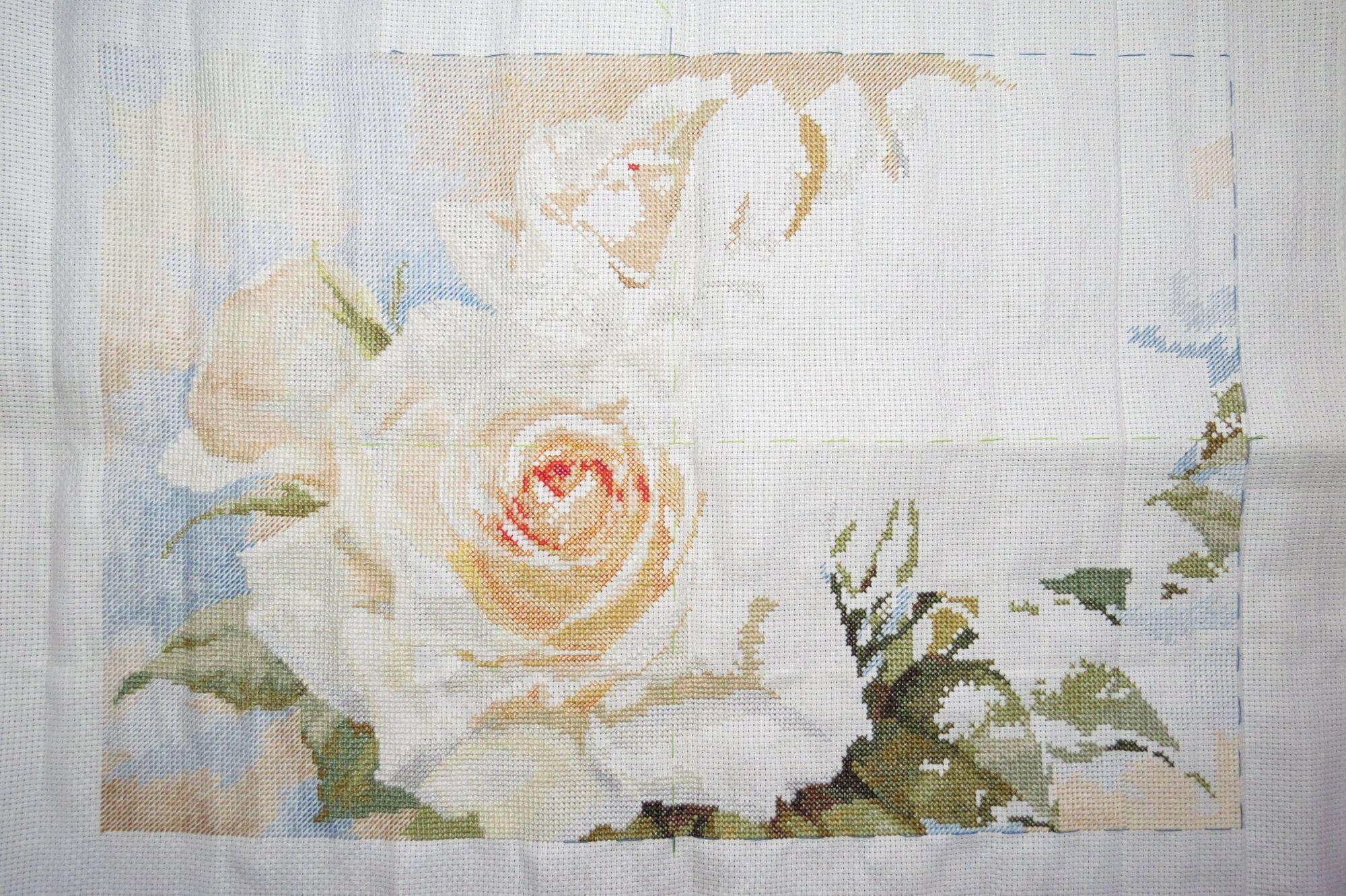Схема вышивки алиса белые розы 46