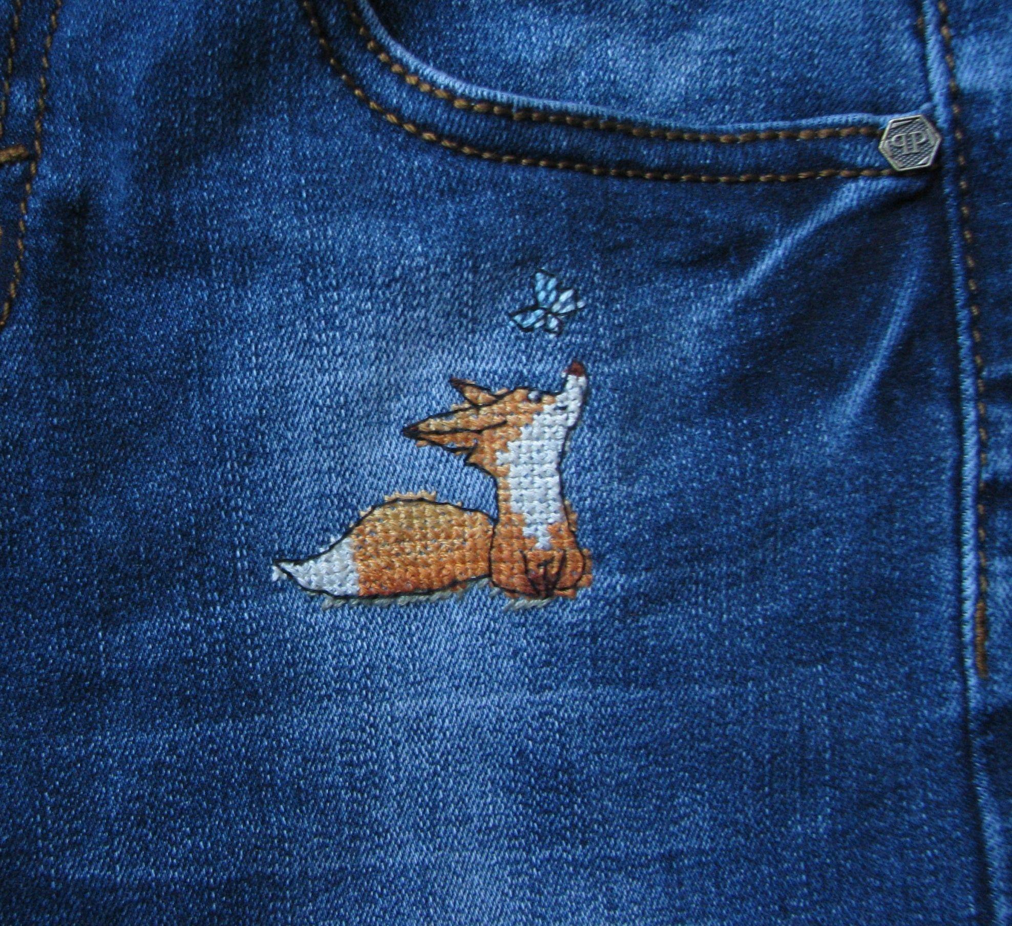 Схемы вышивки крестом джинсах
